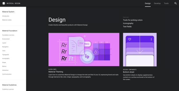 Google's Material Design is great, but don't recreate design systems that have a different context. Focus on the problems you face instead.