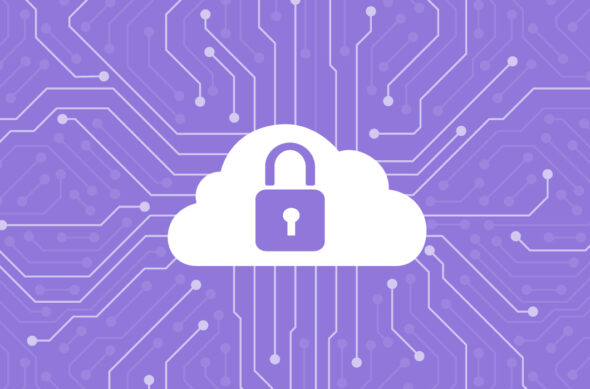 Illustration of a cloud with a lock icon