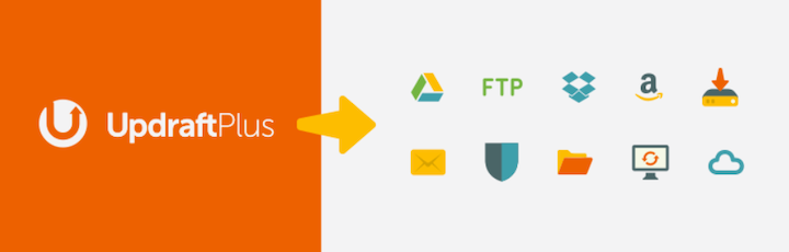 UpdraftPlus's logo and icons for its service integrations