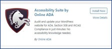 Accessibility Suite's listing on the WordPress plugin store