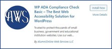 WP ADA Compliance Check's listing on the WordPress plugin store